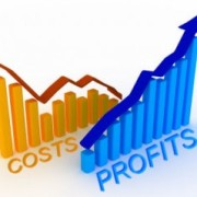 Graphs representing reducing cost and increase profit