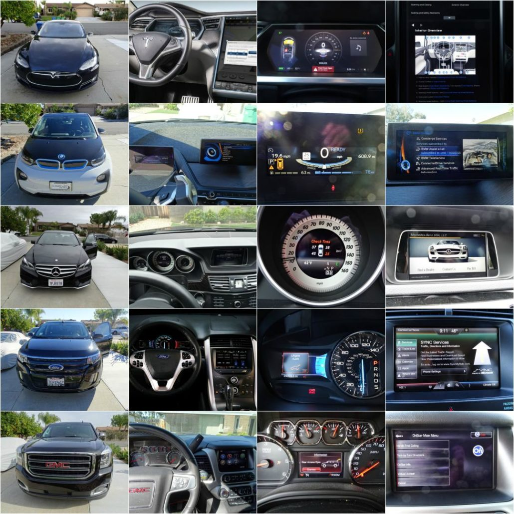 In-car UI Competitive analysis